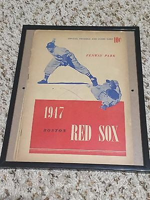 Boston Red Sox 1945 and 1947 Programs