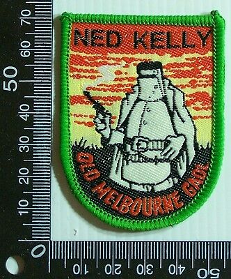 Vintage Old Melbourne Gaol Ned Kelly Embroidered  Patch Woven Cloth Sew-On Badge