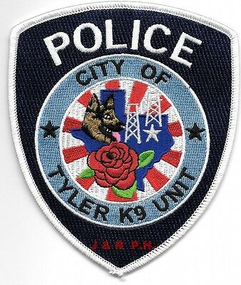 """*NEW*  Tyler  K-9 Unit, Texas  (4"""" x 4.75"""" size)  shoulder police patch (fire)"""