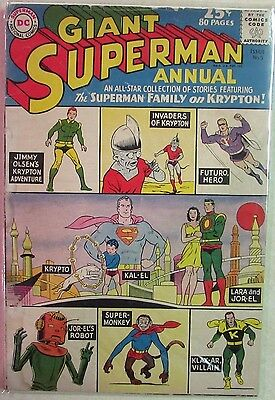DC Comics - Superman Annual Issue #5 - Silver Age -1960s - Giant Size 80 Pages