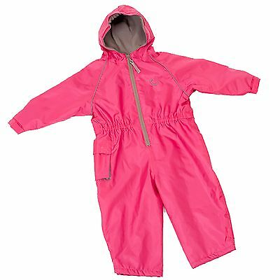 Hippychick Fleece Lined Waterproof Play Suit - Pink (2-3 Years Kids/Child)
