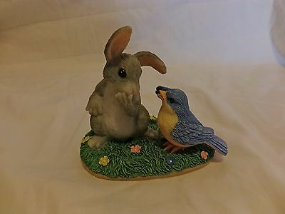 Charming Tails SIGNED A LITTLE BIRD TOLD ME Rabbit Blue Bird 89/720 (30)