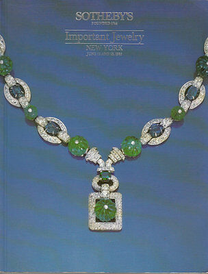 Sotheby's Important Jewelry New York 6/12/85 Sale 5347
