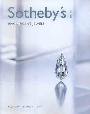Sotheby's New York Magnificent Jewels 12/11/03 SALE CODE 7951