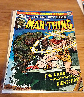 Adventure Into Fear # 19 With Man-Thing 1973 Marvel Comics 1St Howard The Duck