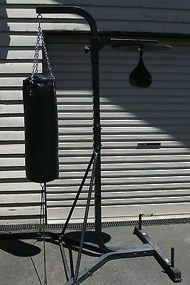Boxing bag, stand and speed bag