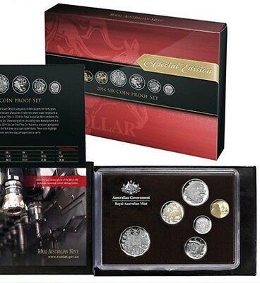 2014 Royal Australian Mint Proof Coin Set-Only 1 On Ebay Worldwide-Coloured $1 !