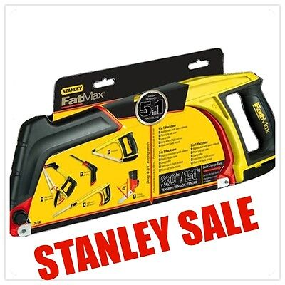 Stanley FatMax 5-in-1 Hacksaw Plumbing, Carpentry, Tools
