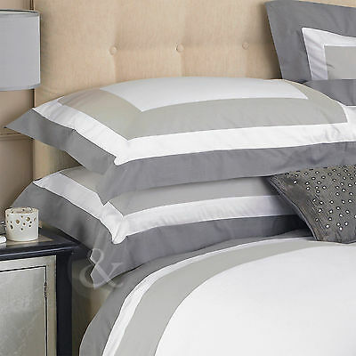 Square Geometric Luxury Pillow Cover - 100% Cotton Taupe & Grey Pillow Case