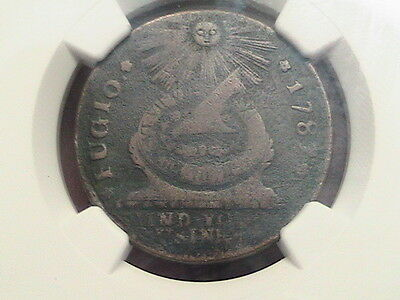 1787 Fugio Cent 4 Cinq. Pointed Rays NGC VF Details