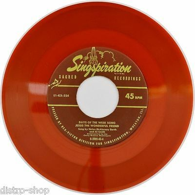 "7"" HELEN McALERNEY BARTH & AL SMITH Birds Upon Tree Tops SINGSPIRATION Red Vinyl"