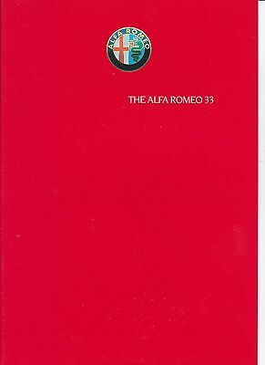 Alfa Romeo 33 brochure leaflet 1986 series 1 1.3S 1.5 1.5QV 16 page red cover
