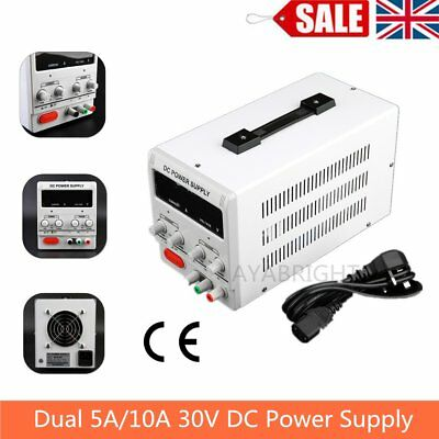 5A/10A 0-30V Adjustable DC Power Supply Precision Variable Digital Lab w/clip CE