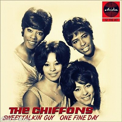 """7"""" THE CHIFFONS Sweet Talkin' Guy / One Fine Day FOUR PENNIES 45rpm ARIOLA 1972"""