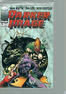 Darker Image #1 - signed by Jim Lee still sealed with Trading card NM