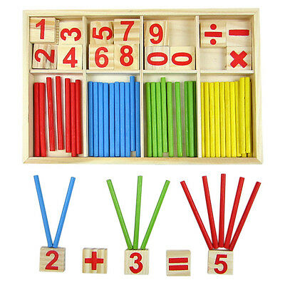 Wooden Montessori Mathematics Material Early Learning Educational for Kids HGUJ