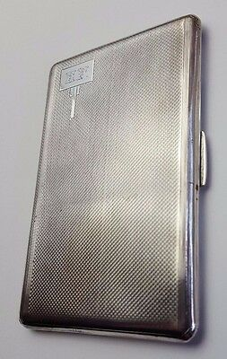 "ANTIQUE - SOLID STERLING SILVER - CIGARETTE CASE - HALLMARKED - 5"" x 3"" - 157.7g"