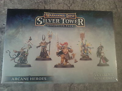 Warhammer Quest Silver Tower Expansion Arcane Heroes - New & Sealed