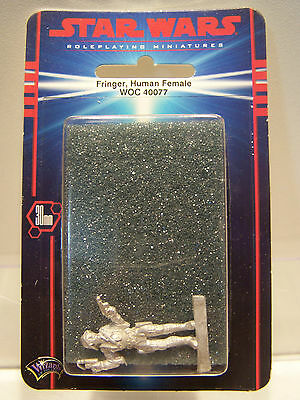Star Wars Roleplaying Miniatures Fringer Human Female WOC 40077 Pewter MOC