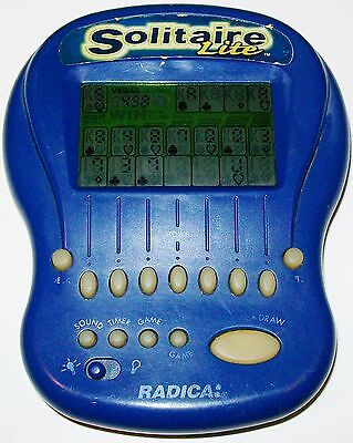 Electronic Handheld Radica Solitaire Lite Lighted Working Hand Held Pocket Game