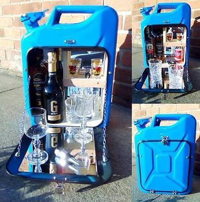 blue jerry can bar /mini bar/ camping / drinks carrier / stag / man cave