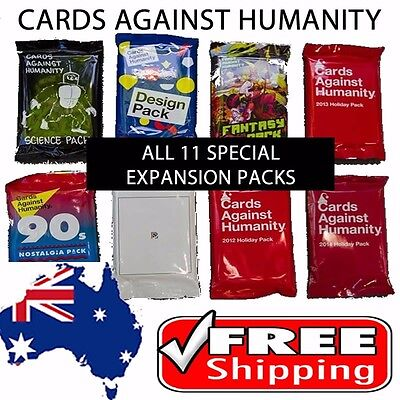 Cards Against Humanity - 11 x Booster Set - All special booster expansion packs