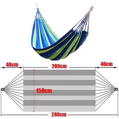 Double Person Garden Canvas Family Hammock Bed Durable Travel Camping Colorful