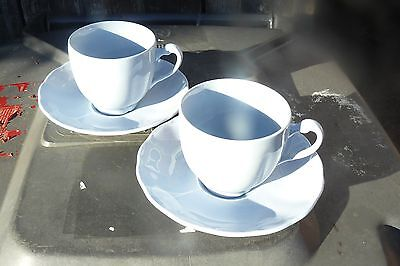 grindley petalware  BLUE X2 TEA CUP & SAUCER WW2 UTILITY HOMEFIRES