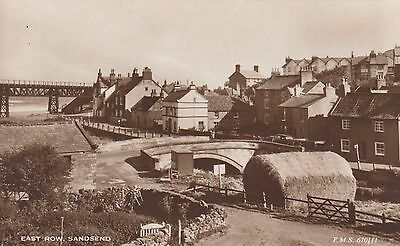 East Row, Sandsend, near Whitby, N Yorks, Real photo old postcard, unposted