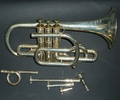 Rare Antique Henry Potter 30 charing X London Cornet wt interchangeable bits