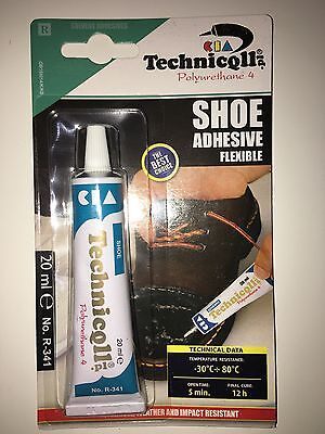 Glue Adhesive For Shoes Boots Trainers Soles Leather Rubber Fabrics Repair Fix