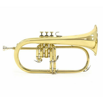 Student Model Flugel Horn with Mouthpiece and hard case