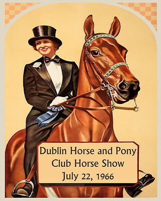 Horse Show European Dressage Eventing Vintage Poster Repro FREE SHIP in USA