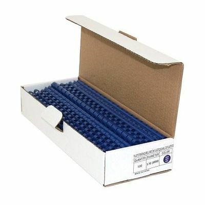 "Navy Blue 3/8"" Binding Combs - Box of 100"