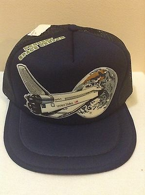 Vintage Kennedy Space Center Baseball Cap Hat Shuttle NASA Spaceport USA mesh