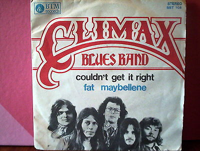 """CLIMAX BLUES BAND 45 giri 7"""" couldn't get it right/fat maybellene ITALY EX/EX (V"""