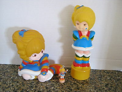Lot Hallmark Rainbow Brite 1983 Bank 1985 Figure & 1983  Key Fob