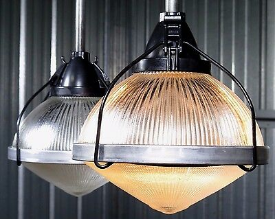 """HOLOPHANE 11"""" prismatic ceiling pendant Industrial Barn Factory Light - 8 avail."""
