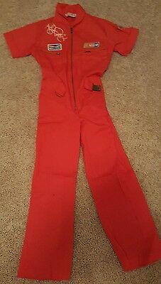 Vintage! Richard Petty #43 Childs Youth Red/Orange Racing Suit NASCAR Size
