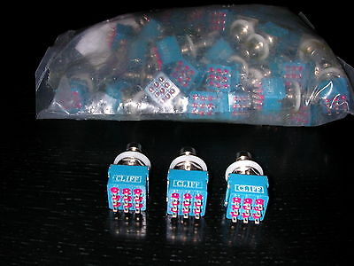 50 X CLIFF 3PDT SWITCHES,FOR DIY STOMP BOX PEDALS,like fuzz face NKT 275,TS808