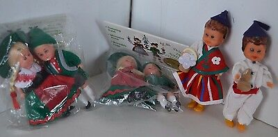 Vintage Dolls Around the World Native Costume Colonies Lot of 6 Sleepy Eyes