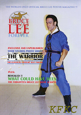 """BRUCE LEE FOREVER Fold-Out Poster-Magazine """"THE WARRIOR"""" Special w/Rare Photo"""