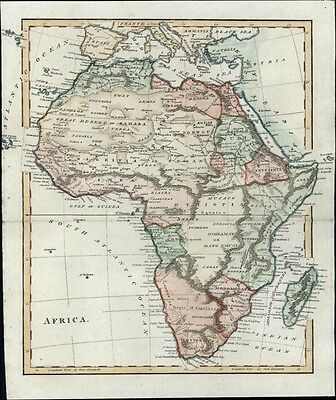 Africa continent 1810 HUGE Mts. of the Moon! antique map fascinating details