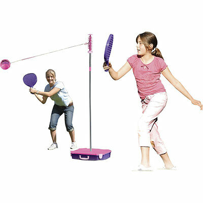 All Surface Swingball - Pink, Outdoor Garden Activity, Family Tennis Play Set
