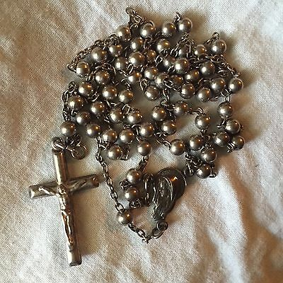 All Sterling Silver Rosary Made In Italy