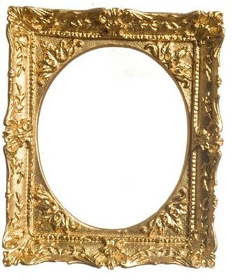 dollhouse miniature gold ornate frame by falcon miniatures