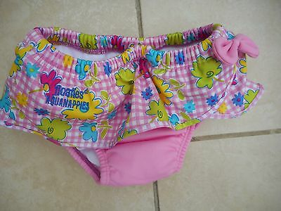 Floaties Aqua Nappies Baby Girls Pink Check /floral  Age 18-24 Months