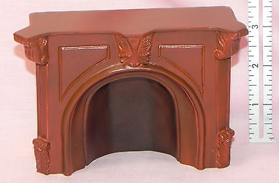 Dollhouse Miniature Fireplace Brown Falcon Minis 1:12 Scale