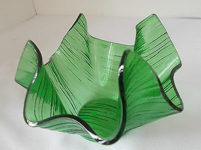 Vintage Chance Brothers Green Handkerchief Vase
