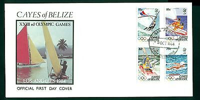 Cayes of Belize Scott #14-17 FDC MNH Olympics 1984 Los Angeles $$